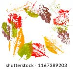print colorful autumn leaves on ... | Shutterstock . vector #1167389203