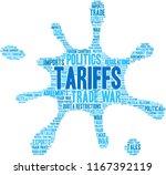 tariffs word cloud on a white...   Shutterstock .eps vector #1167392119