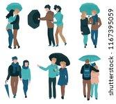 vector illustration set of... | Shutterstock .eps vector #1167395059