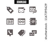9 address vector icon set with...