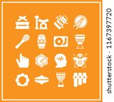 16 rhythm vector icon set with... | Shutterstock .eps vector #1167397720