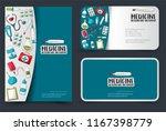 medicine and healthcare flyer... | Shutterstock .eps vector #1167398779