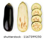 eggplant isolated on white... | Shutterstock . vector #1167399250