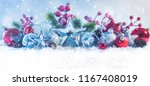 winter background with snow.... | Shutterstock . vector #1167408019