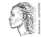 african woman with dreadlocks.... | Shutterstock .eps vector #1167410590