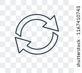curve arrows vector icon... | Shutterstock .eps vector #1167410743