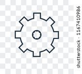 cogwheel vector icon isolated... | Shutterstock .eps vector #1167410986