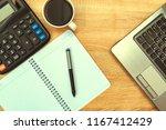 laptop computer or notebook ... | Shutterstock . vector #1167412429