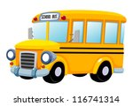 illustration of School bus vector - stock vector