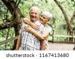 happy old elderly caucasian... | Shutterstock . vector #1167413680
