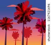 tropical sunrise at seashore ...   Shutterstock .eps vector #1167421696