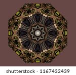 abstract eight sided colorful... | Shutterstock . vector #1167432439