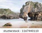 cuevas del mar beach  asturias  ... | Shutterstock . vector #1167440110