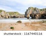cuevas del mar beach  asturias  ... | Shutterstock . vector #1167440116