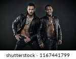 two male models posing together.... | Shutterstock . vector #1167441799