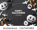 happy halloween party... | Shutterstock .eps vector #1167441883