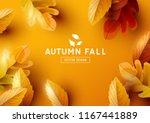 autumn season background design ... | Shutterstock .eps vector #1167441889