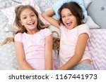 pajama party and friendship.... | Shutterstock . vector #1167441973