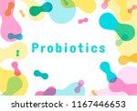 probiotics bacteria logo.... | Shutterstock .eps vector #1167446653