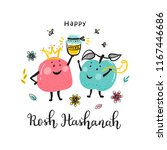 jewish new year holiday. happy... | Shutterstock .eps vector #1167446686