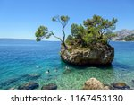 brela  croatia   6 july 2017 ... | Shutterstock . vector #1167453130