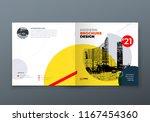 square brochure design.... | Shutterstock .eps vector #1167454360