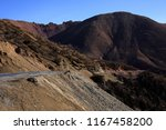 mountain pass on the road... | Shutterstock . vector #1167458200
