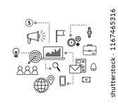 modern flat business concept | Shutterstock .eps vector #1167465316
