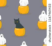 halloween seamless pattern.... | Shutterstock .eps vector #1167465433