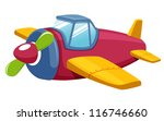 illustration of Toy plane.Vector - stock vector