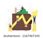 large wallet with key and... | Shutterstock .eps vector #1167467143