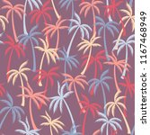 coconut palm tree pattern... | Shutterstock .eps vector #1167468949