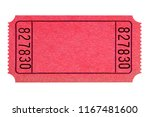 blank red ticket isolated  | Shutterstock . vector #1167481600