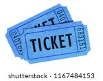 two tickets blue front view... | Shutterstock . vector #1167484153