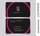 dark pink name card and... | Shutterstock .eps vector #1167495439