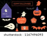 halloween theme banner with... | Shutterstock .eps vector #1167496093