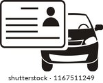 driving license card icon... | Shutterstock .eps vector #1167511249