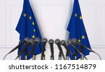 official press conference.... | Shutterstock . vector #1167514879