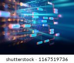 block chain network and... | Shutterstock . vector #1167519736