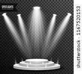 stage podium illuminated scene... | Shutterstock .eps vector #1167520153