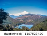 tinquilco lake and villarrica... | Shutterstock . vector #1167523420