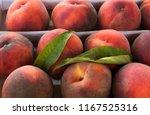 fresh red freestone peach...   Shutterstock . vector #1167525316