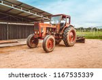 big farm tractor. big old... | Shutterstock . vector #1167535339