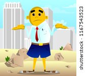 yellow man shrugs shoulders... | Shutterstock .eps vector #1167543523