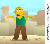 yellow man shrugs shoulders... | Shutterstock .eps vector #1167543526