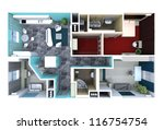 plan in the apartment  with... | Shutterstock . vector #116754754