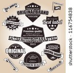 set of vintage retro labels ... | Shutterstock .eps vector #116754838