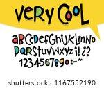 hand drawn vector alphabet ... | Shutterstock .eps vector #1167552190