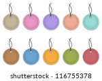 colorful leather labels like...   Shutterstock .eps vector #116755378