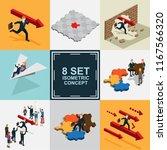 business success isometric set | Shutterstock .eps vector #1167566320
